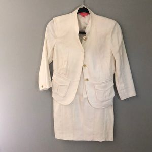 Women's Cream Colored Ivanka Trump Skirt Suit